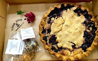 Large Blueberry Birthday Pie To Go